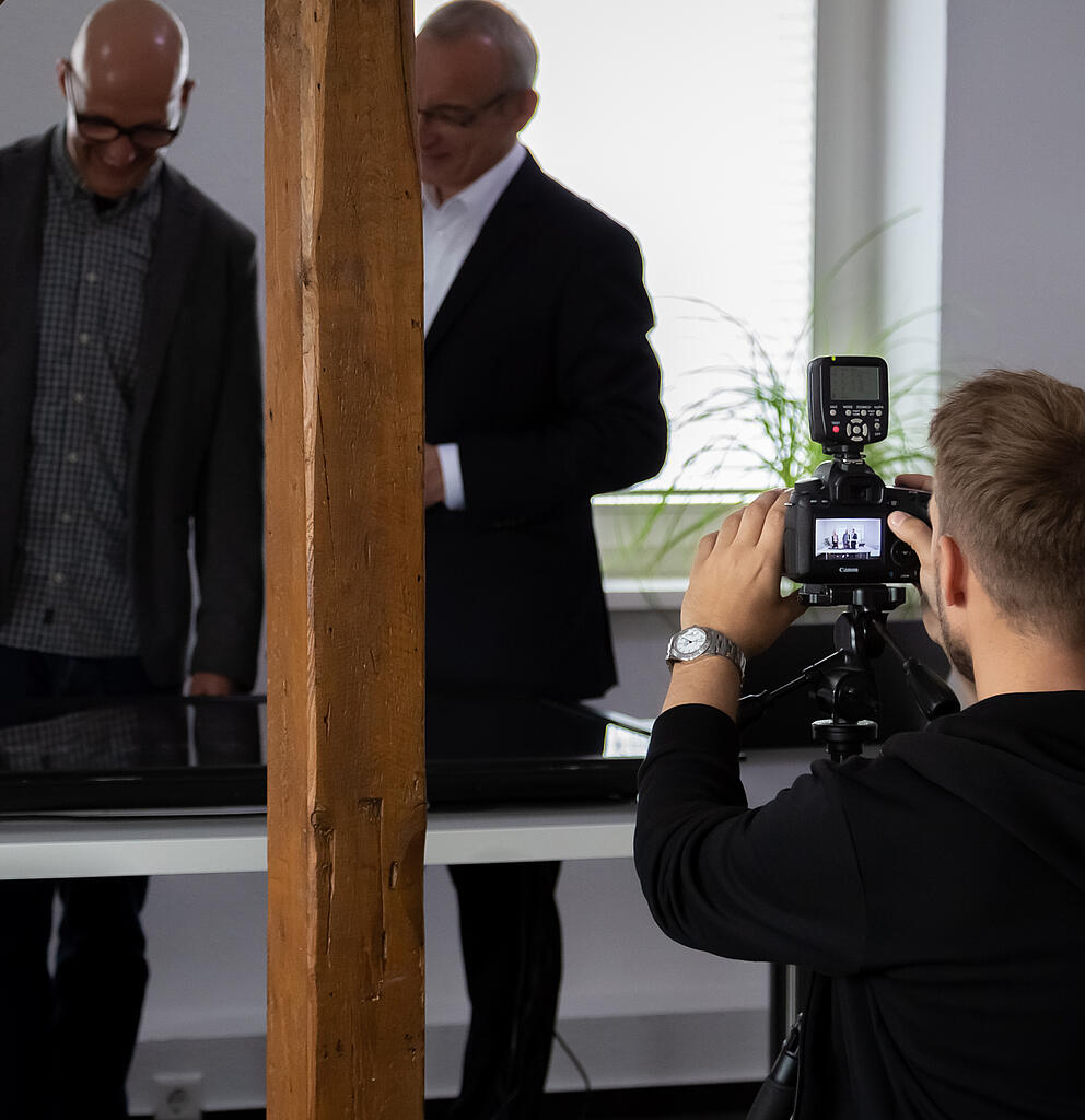 Fotoshooting in einer Digitalagentur