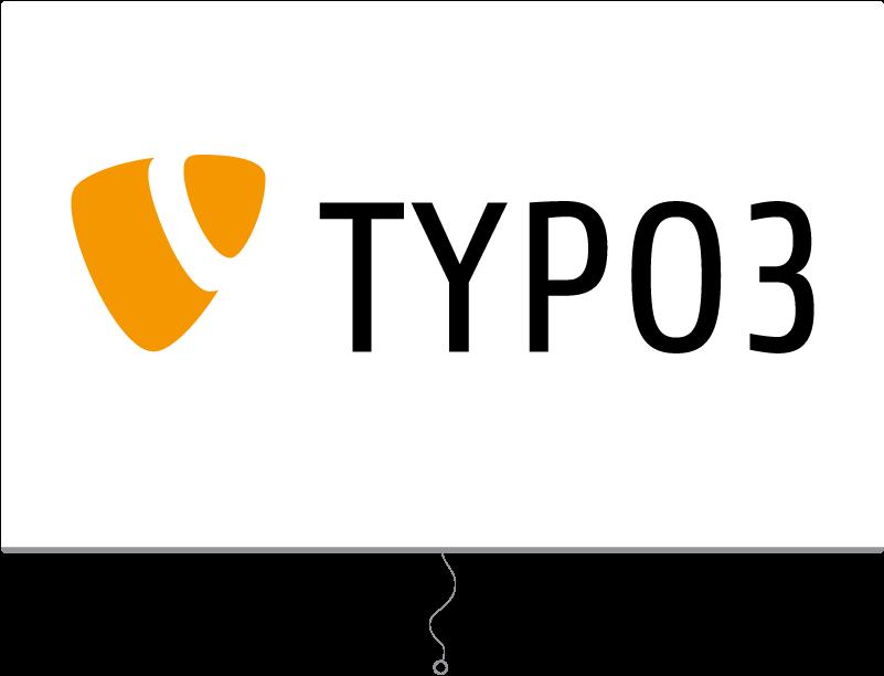 TYPO3 Schulung Illustration TYPO3 Logo