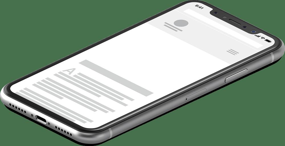 Illustration eines Smartphone zeigt mobile Website an